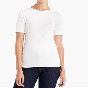 J crew white stretch slim perfect T-shirt